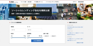 ZUU、融資型クラウドファンディング(ソーシャルレンディング)比較サイト「クラウドポート」を事業譲受