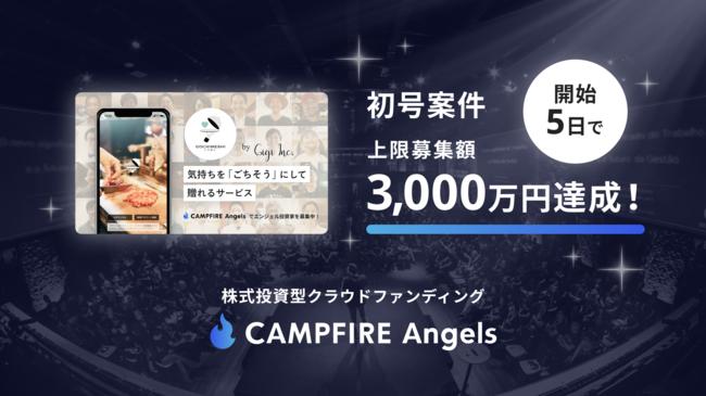 株式会社Gigi、株式投資型クラウドファンディング「CAMPFIRE Angels」募集開始5日で上限募集額3,000万円を達成!