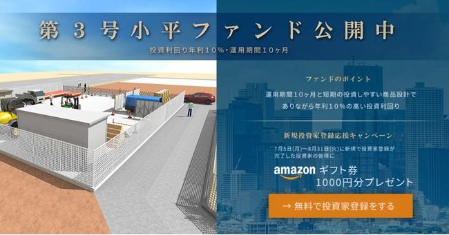 「victory fund」 第3号小平市用地収益化プロジェクトNo.2の情報公開のお知らせ