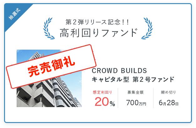 CROWD BUILDS第2号ファンド総額747%の応募