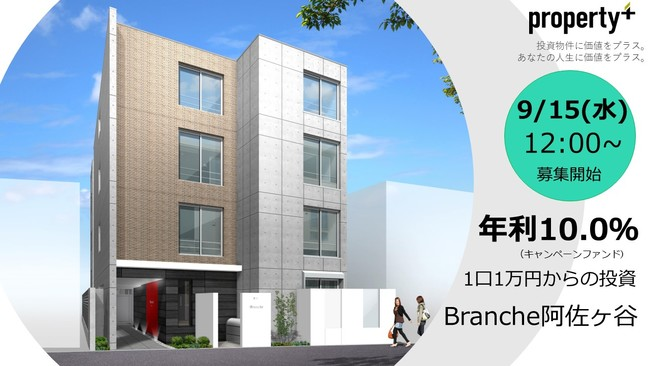 年利10.0% 「Branche阿佐ヶ谷ファンド4」クラウドファンディングによる募集開始